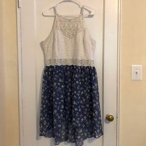 By&By Sleeveless Fit and Flare Hi-low dress